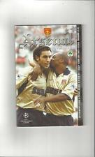 Arsenal Teams A-B Football European Club Fixture Programmes