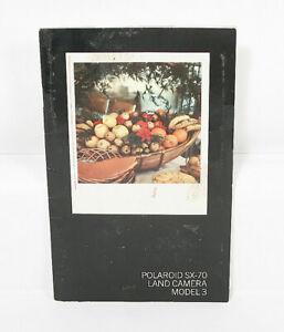 POLAROID SX-70 MODEL 3 INSTRUCTION BOOK/119225
