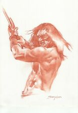 Conan The Barbarian -Original Sanguine Drawing - Sanjulian hand signed