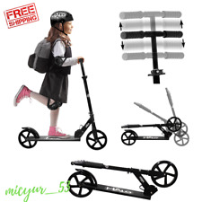 Girls Kids Extra Large Wheels Kick Scooter Adults Boys Foldable Adjustable Big