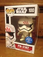 FUNKO POP! Star Wars Finn FN-2187 Blood Smear #100 Exclusive Vinyl Figure NEW