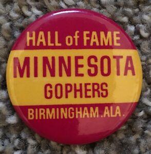 "Vintage 1-3/4"" Hall Of Fame Bowl MINNESOTA GOPHERS Pinback Button Missing Pin"