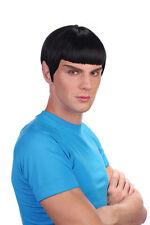 Spaceman Vulcan Spock de Star Trek Estilo Negro Peluca Disfraz Accesorio