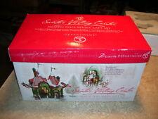 Department 56 Christmas Santa's Visiting Center North Pole Series Gift Set