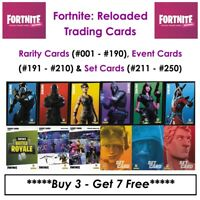 """Panini"" Fortnite Reloaded (2020) - Trading Cards: Rarity, Event & Set Cards"