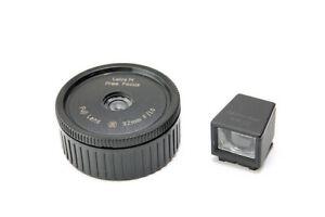 Leica M-port wide Angle lens (Fuji 32mm/F10) + 35mm optical viewfinder