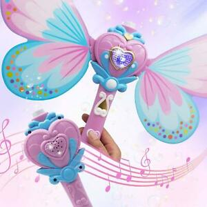Magic Bubble Wand Blower, Musical Light Up Butterfly Bubbles Toy Kids