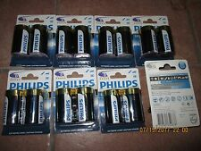 16 NEW PHILIPS Ultra ALKALINE D SIZE BATTERIES 8 2 Pack Battery 8712581652678