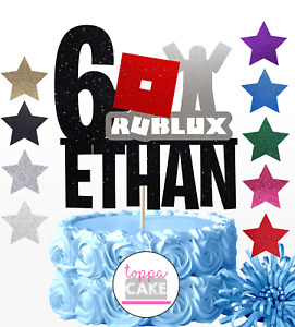 ROBLOX PERSONALISED ANY NAME/AGE BIRTHDAY CAKE TOPPER