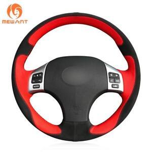 Black Red 3D custom Steering Wheel Cover  for Lexus IS250 IS300C IS350C F SPORT