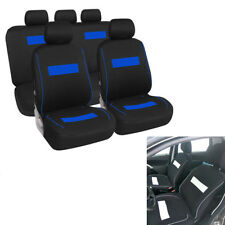 Car Seat Cover Black+Blue Strip For Toyota Corolla Verso Renault Scenic Washable