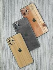 iPhone 7 8 X Pro Max XS 11 XR Schutzfolie Wrap Case Skin Aufkleber Sticker Holz