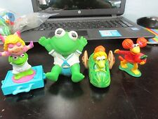 Lot Of 4 Jim Henson Toys Kermit Kermit & Miss Piggy And Fraggle Rock