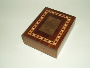 Vintage playing cards Stakis Casinos by Grimaud of France in Hardwood card box.