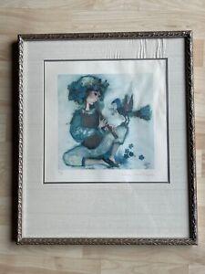 Rosina Wachtmeister Signed Print Magic Flute Player & Bird Artist Proof w/ COA