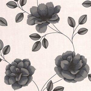 Graham & Brown Superfresco Flavia Black Wallpaper - 2 Rolls Batch No 029