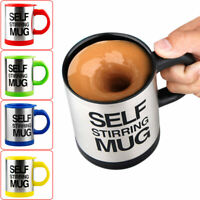 Automatic Self Stirring Coffee Mixing Cup Mug Electric Stainless Steel GOOD