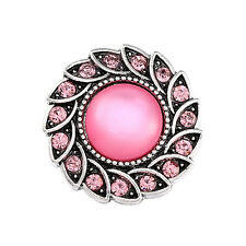 Fashion 3D Rhinestone 20mm Ginger Snaps Chunk Charm Button Fit Noosa Jewellery