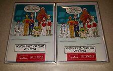 2 LOT Hallmark Disney Star Wars 32 Christmas Cards Boxed Yoda R2D2 Princess Leia