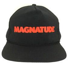 Vtg Magnatude Cigarettes Hat Tobacco Cap Script Logo Snap Back Baseball Trucker