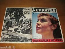 L'EUROPEO=1956/36=PINA BOTTIN=LEDA ROFFI=MARIA LUISA GAROBBO=MARIA JOSE' SAVOIA=