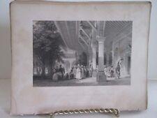 Vintage Print,SERAGLIO RECEPTION ROOM,Fishers,Constantinople,Allom,c1860