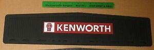 "KENWORTH LOGO BLACK FRONT FENDER MUDFLAPS 5.5"" x 24"" - SOLD INDIVIDUALLY  !"