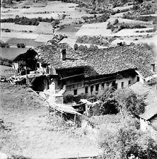 SAINT OYEN c. 1948 - Chalet Fermette Italie - Négatif 6 x 6 - ITAL 368