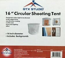 """GTX Studio 16"""" White Circular Shooting Tent with Backgrounds"""