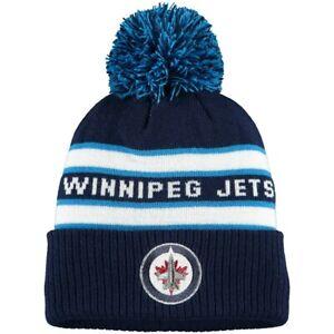 ADIDAS WINNIPEG JETS NHL Men's Cuffed Knit Cap Pom Beanie Winter Hat NWT $25
