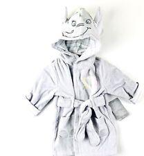 Disney Store Baby Dumbo Hooded Bath Robe Sz 6-9 Mo Grey Long Sleeve No 1 Star