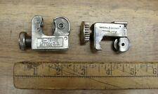"""2 Close Quarters Tubing Cutters,Imperial Eastman IMP,& Unbranded 1/8-5/8"""",Exc"""