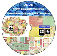 60 000 Verses & Quotes DVD For Card Making Arts Crafts + Decoupage + Bonus DVD +