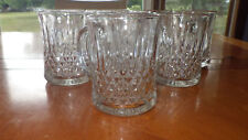 Clear Pressed Glass Handled Mugs by KIG Indonesia 8 10 ounce hot/cold mugs