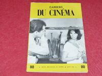 [REVUE LES CAHIERS DU CINEMA] N°110 # AOÛT 1960 SATYAJIT RAY EO 1rst Printing