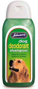Johnsons Dog Deodorant Conditioning Shampoo 200ml Odour Reduction Gentle