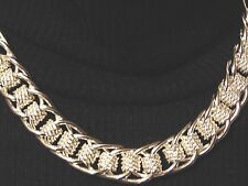 """Chunky Statement T/O Chain Necklace 925 Plated Silver 18"""""""