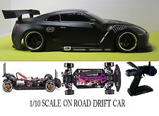 1/10 Scale NISSAN GT-R RTR Custom RC Drift Cars 4WD 2.4Ghz & Charger