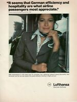 1979 Original Advertising' Vintage American Lufthansa Germany Airlines Hostess