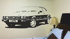 Fast car classic, Wall art decal/sticker retro interior design