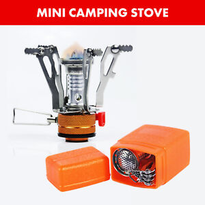 Pocket Size Mini Collapsible Camping Stove Burner with Piezo Ignition System