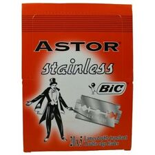 Bic Astor Stainless Double Edge Razors 100 Pieces Free Shipping