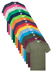 Fruit of the Loom Lightweight Cotton Summer Budget Tee Shirt T-Shirt S-5XL