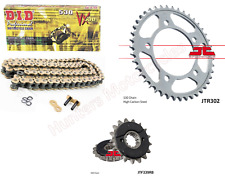 Honda CBR1100 Blackbird DID Gold XRing Heavy Duty Chain & JT RB Sprocket Kit Set