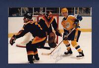 Doug Lidster signed Vancouver Canucks vintage snap-shot photo
