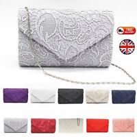 New Classy Lace Clutch Envelope Bag Bridal Designer Ladies Evening Party Prom
