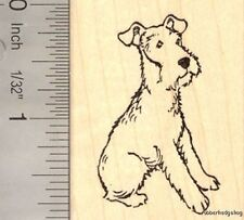 Airedale Terrier Dog Rubber Stamp  G16207 Wood Mounted
