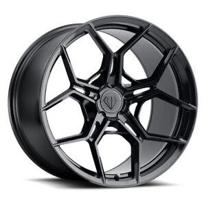 "22"" Blaque Diamond BD-F25 Black 22x9 22x10.5 Wheels Rims Fits BMW E71 E72 X6"