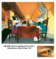 Warner Brothers-Bugs Bunny-Here's Looking At You Kitty Limited Edition Cel