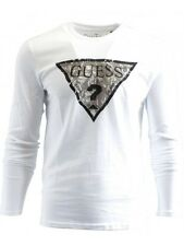 Tee shirt GUESS blanc homme manches longues (taille L)